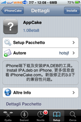 AppCake: an Installous's effective antagonist in Chinese | Cydia