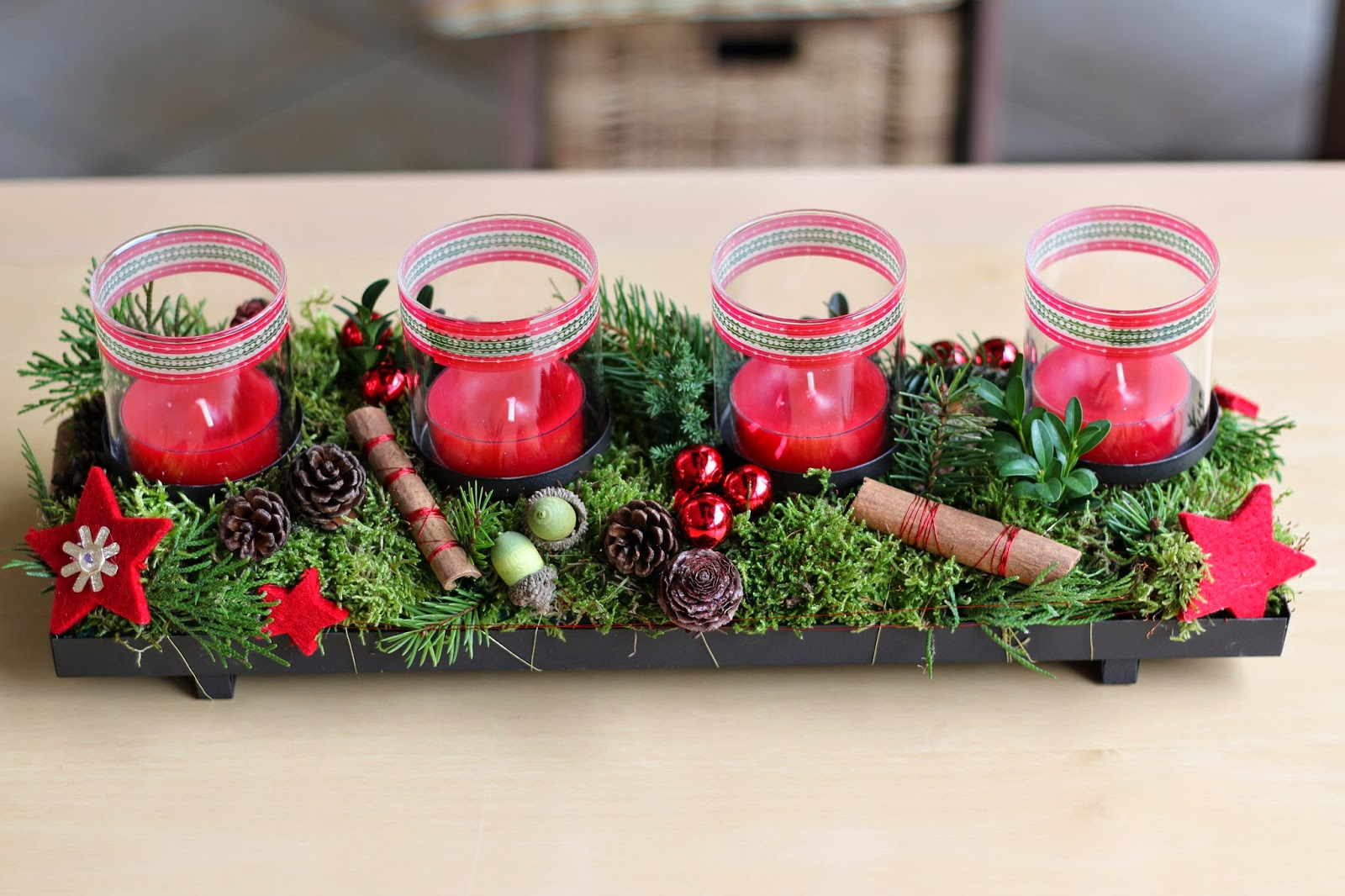 Handmade By Bettina: Adventsgesteck Für Den Klassenraum