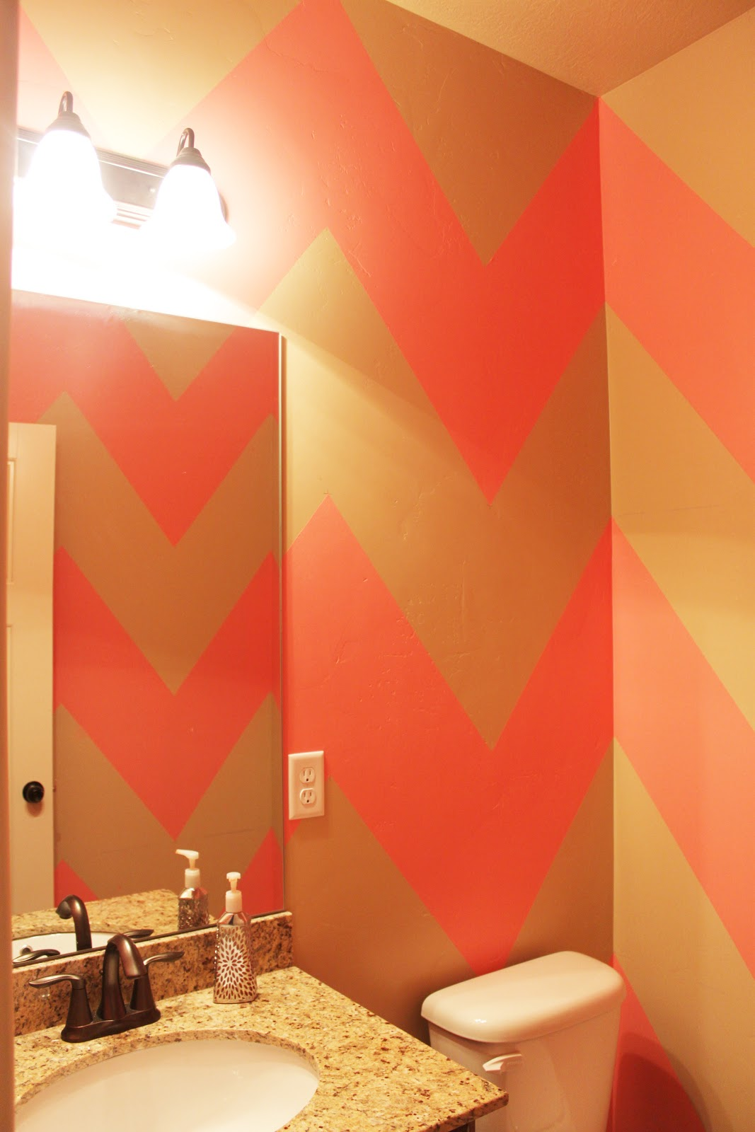 {DIY Chevron Bathroom/Wall}