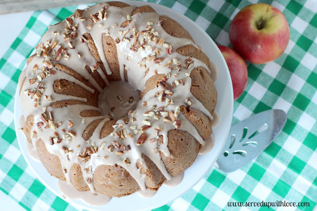 Apple Butter Bundt Cake recipe from Served Up With Love.