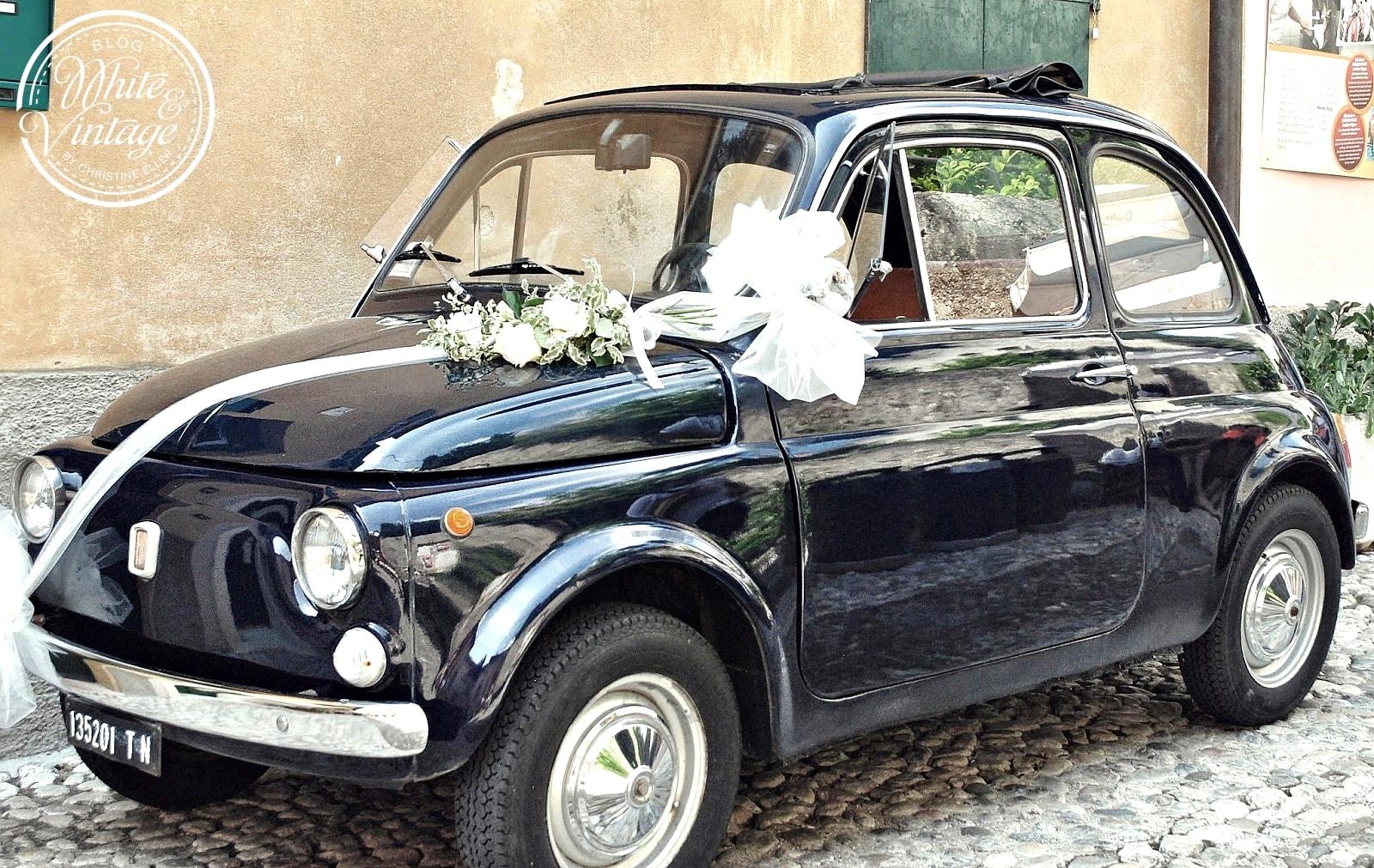 Fiat 500 als Brautauto.