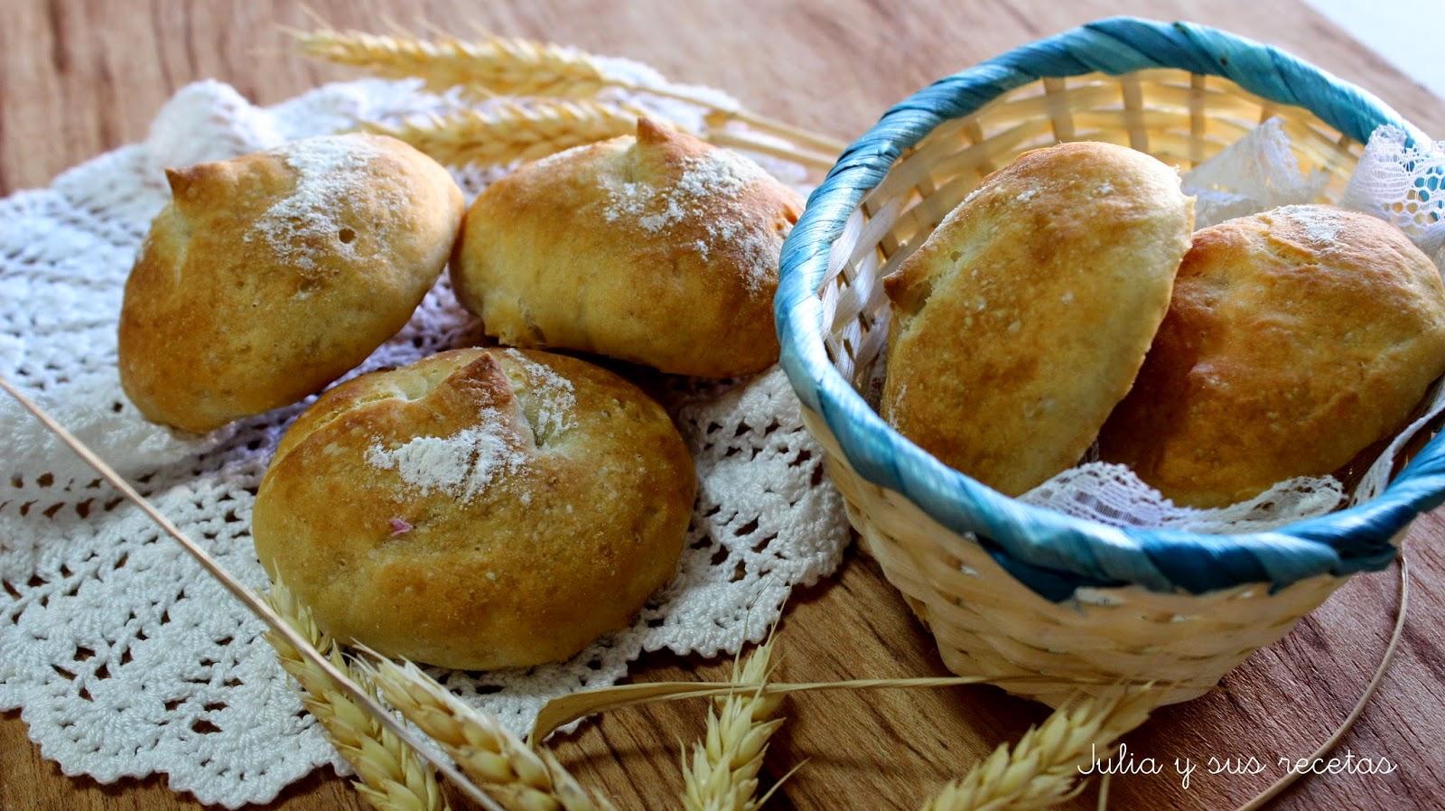 Panecillos con poolish de yogur. Julia y sus recetas