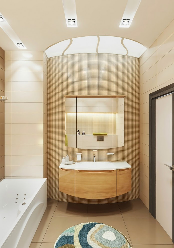 small bathroom design ideas a design of beige and brown bathroom - Small Bathroom Design Ideas Color Schemes