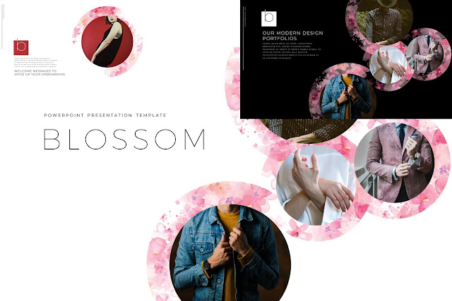 BLOSSOM Business Portfolios PowerPoint Template