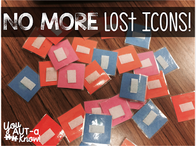 Students in my classroom are often losing their PECS all over campus.  Check out how I manage lost PECS!