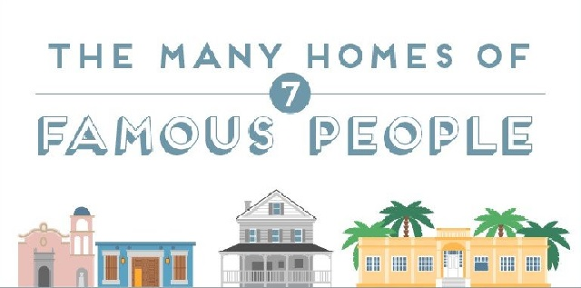 The many homes of 7 famous people