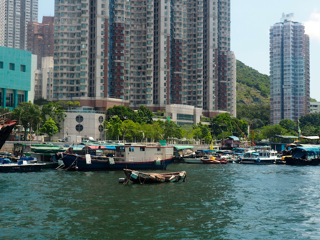 Fishing boats in the harbour in Aberdeen, Hong Kong