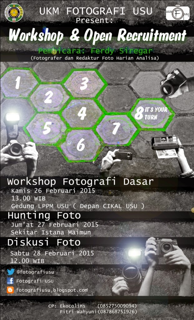 Workshop & Open Recruitment UKM Fotografi USU 2015