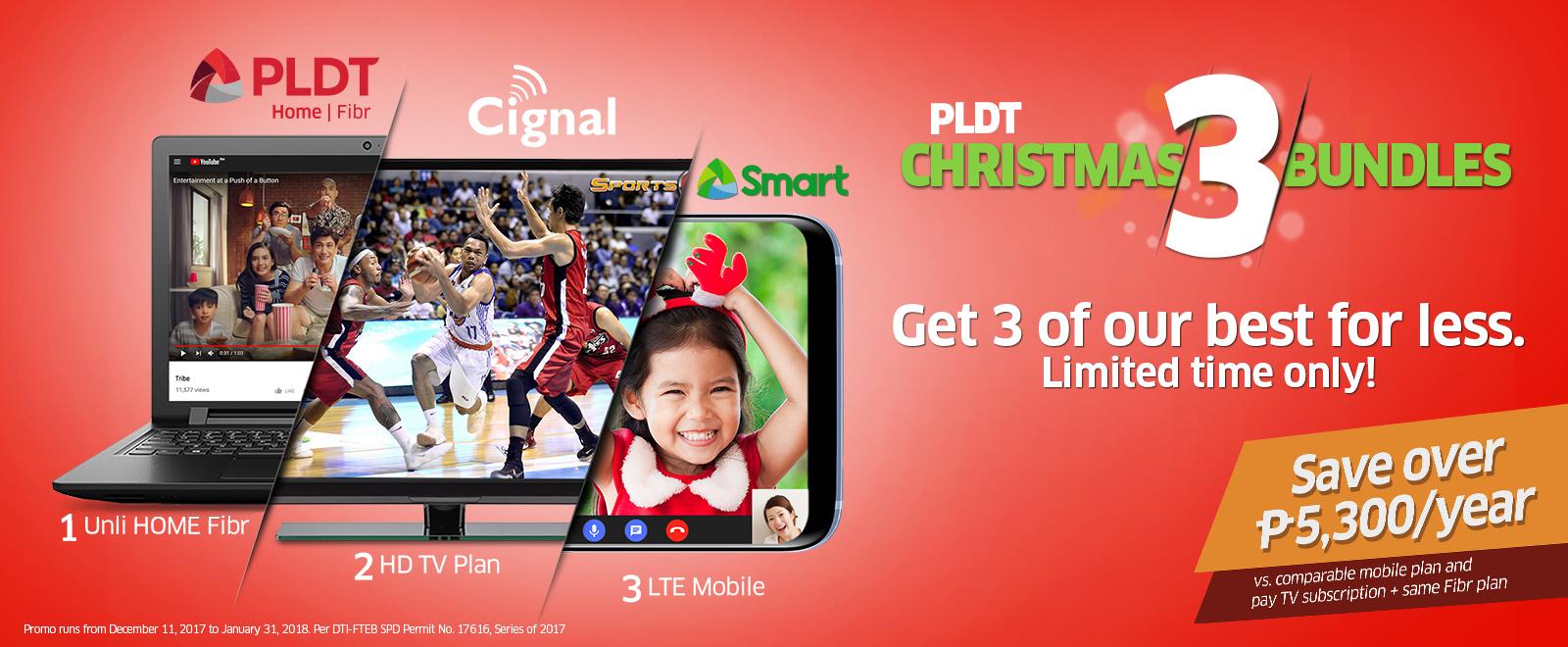 PLDT Christmas 3 Bundle Promo