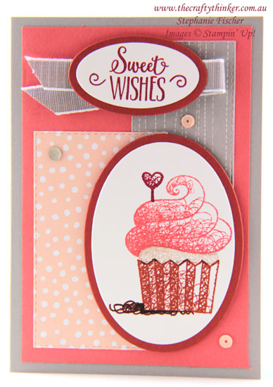 #thecraftythinker  #hellocupcake  #cardmaking  #rubberstamping  #saleabration2019  stampinup , Sale-A-Bration 2019, Hello Cupcake, Stampin' Up Demonstrator, Stephanie Fischer, Sydney NSW
