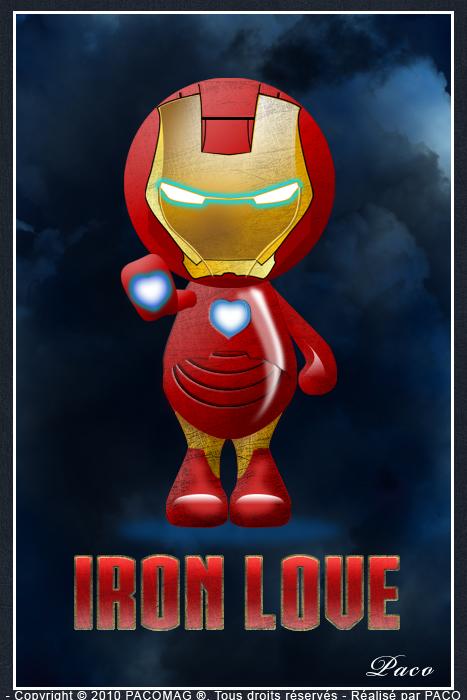 petit personnage bleu en Iron Love