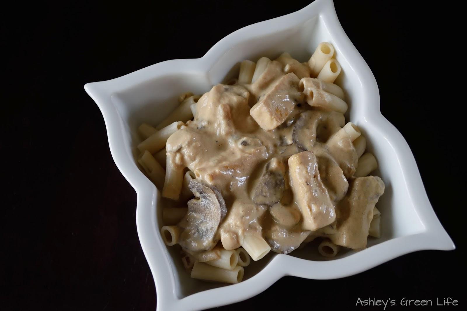 Ashley's Green Life: Vegan Tofu Mushroom Stroganoff
