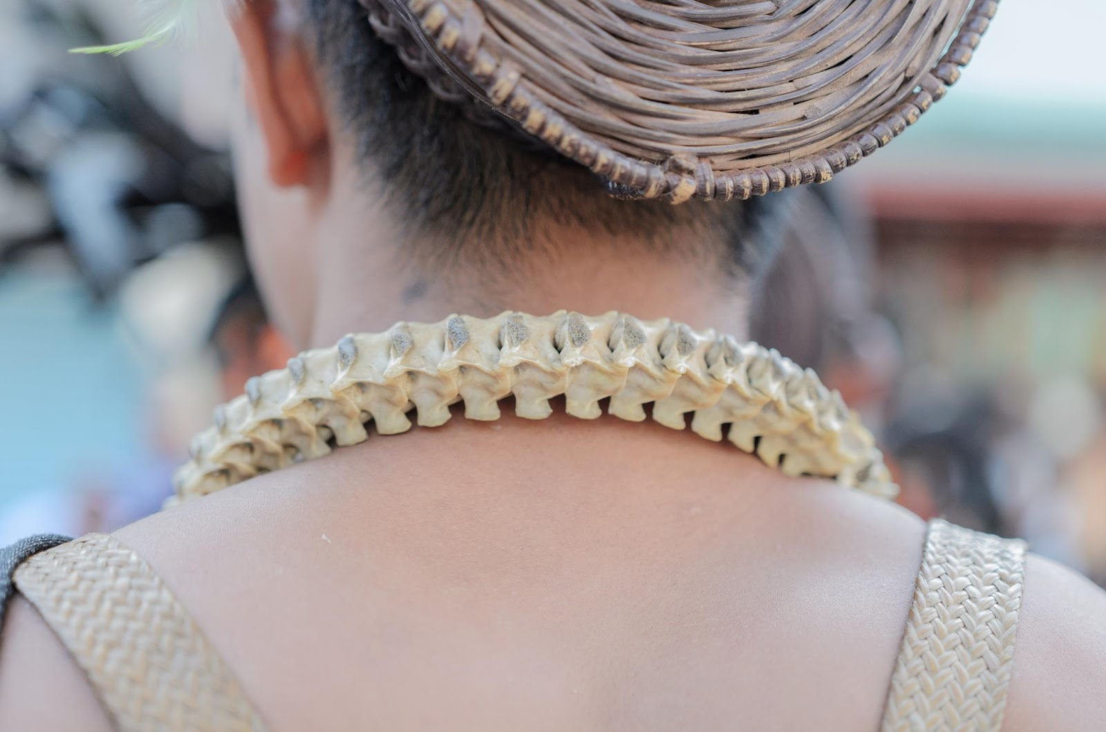 Literally Snake Cartilage Necklace Cultural Parade Participant