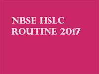 nbsenagaland.com Board 10th Exam Routine 2017