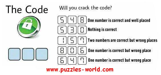 Will you Crack the Code ? | Whatsapp Puzzles world, Quiz, Games ...
