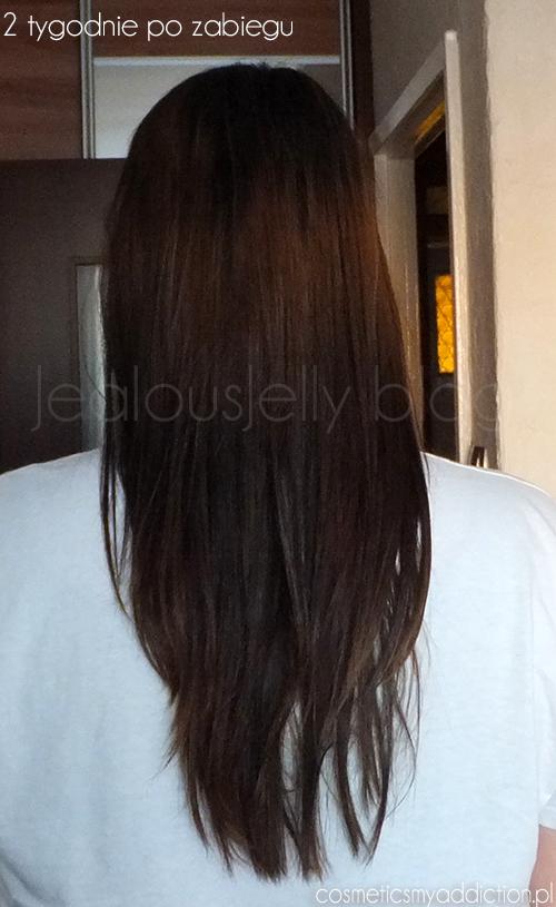 Keratynowe prostowanie włosów - efekty przed i po