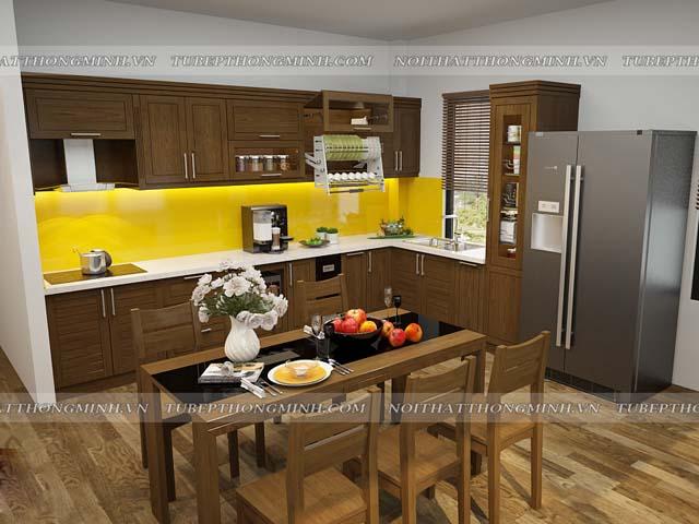 phòng bếp gỗ đẹp
