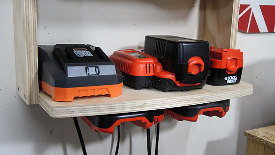 Batttery Charger Shelf