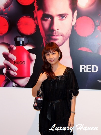 hugo red fragrance media invite
