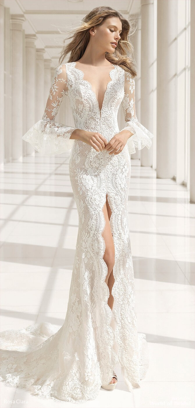 c2b3ca221fa1 This Rosa Clara 2019 Couture wedding dress alluring yet subtle  mermaid-style dress will really flatter your figure. It's made of beaded  embroidered lace and ...