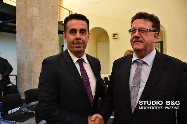 Ο Χανς Γιοακίμ Φούχτελ στο Ναύπλιο για την Ελληνογερμανικη συνέλευση