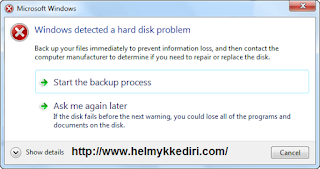 Mengatasi Windows Detected a Hardisk Problem