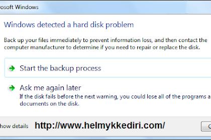 Mengatasi Windows Detected a Hardisk Problem