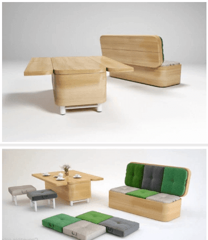 Sofa multifungsi, furniture untuk rumah kecil