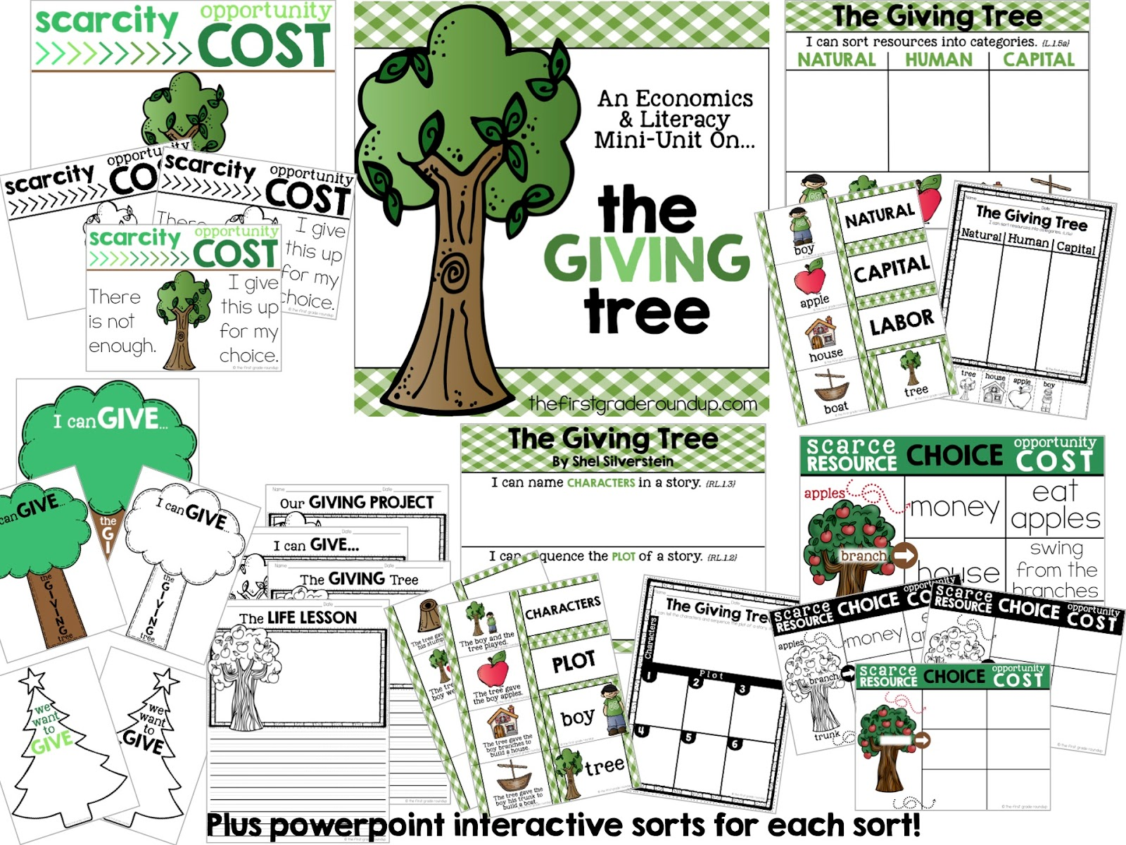 Worksheets The Giving Tree Worksheets the giving tree firstgraderoundup grab mini unit