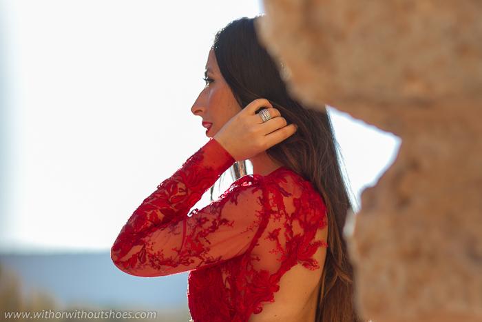 Influencer Moda España Valencia Vestido Fiesta Paillettes bordadas de INMACULADA GARCIA