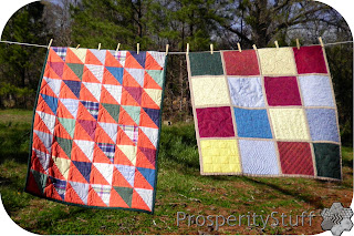 ProsperityStuff Quilts: Two Little Quilts on a Clothesline