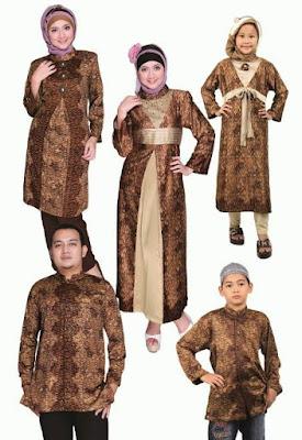 model baju batik muslim anak kreasi terbaik