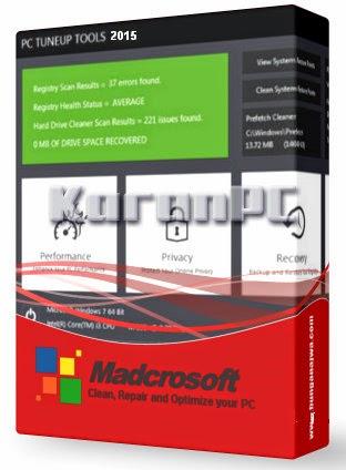 Madcrosoft PC TuneUp Tools 2015 10.0.000 + Crack