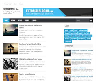 Download Fastest Magz Template Premium Blogger