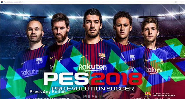 PES 2017 New PES 2018 Start Screen