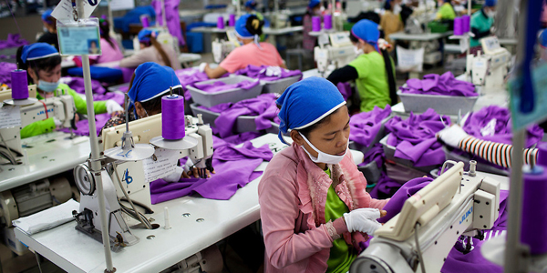 Ouvrières du textile au Cambodge