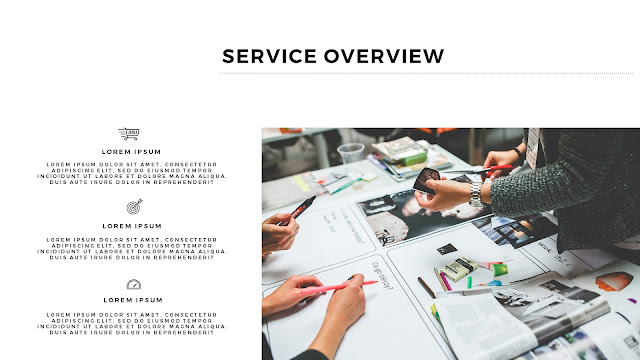 Free Services PowerPoint Template with Photo Image Placeholder Slide 3