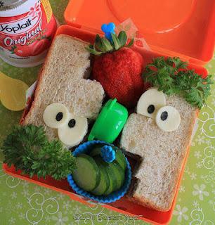 Sandwich en forma de Pheanas a Ferb