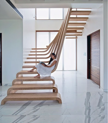 modern wooden stair design ideas