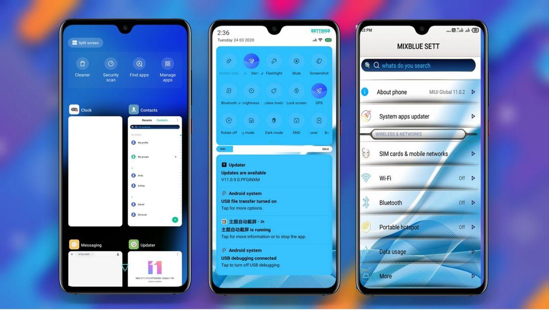 Mix Blue V11 MIUI Theme for Xiaomi Redmi Devices