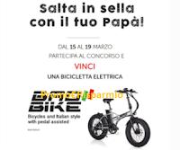 Logo Carpisa festeggia la Festa del Papà: vinci biciclette elettriche Bike Bad 250 watt
