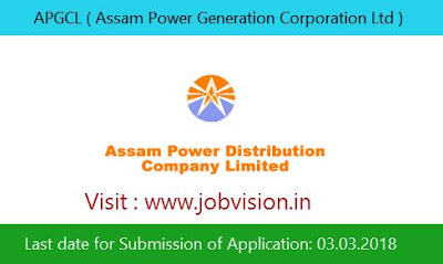 APGCL ( Assam Power Generation Corporation Ltd ) Recruitment 2018