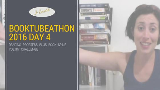 #BookTubeAThon 2016 Day 4: Book Spine Poetry Challenge