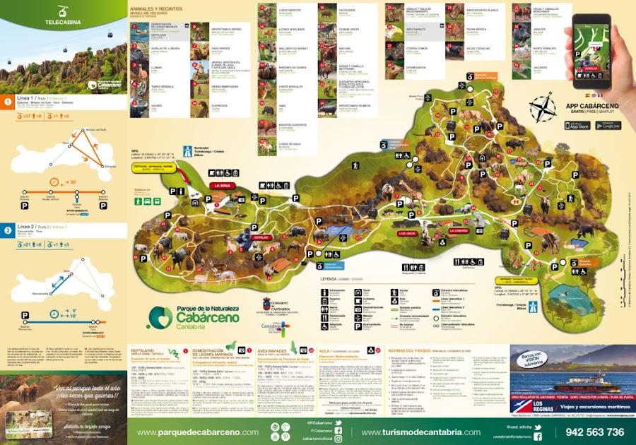 Plano Parque de la Naturaleza de Cabárceno, Santander