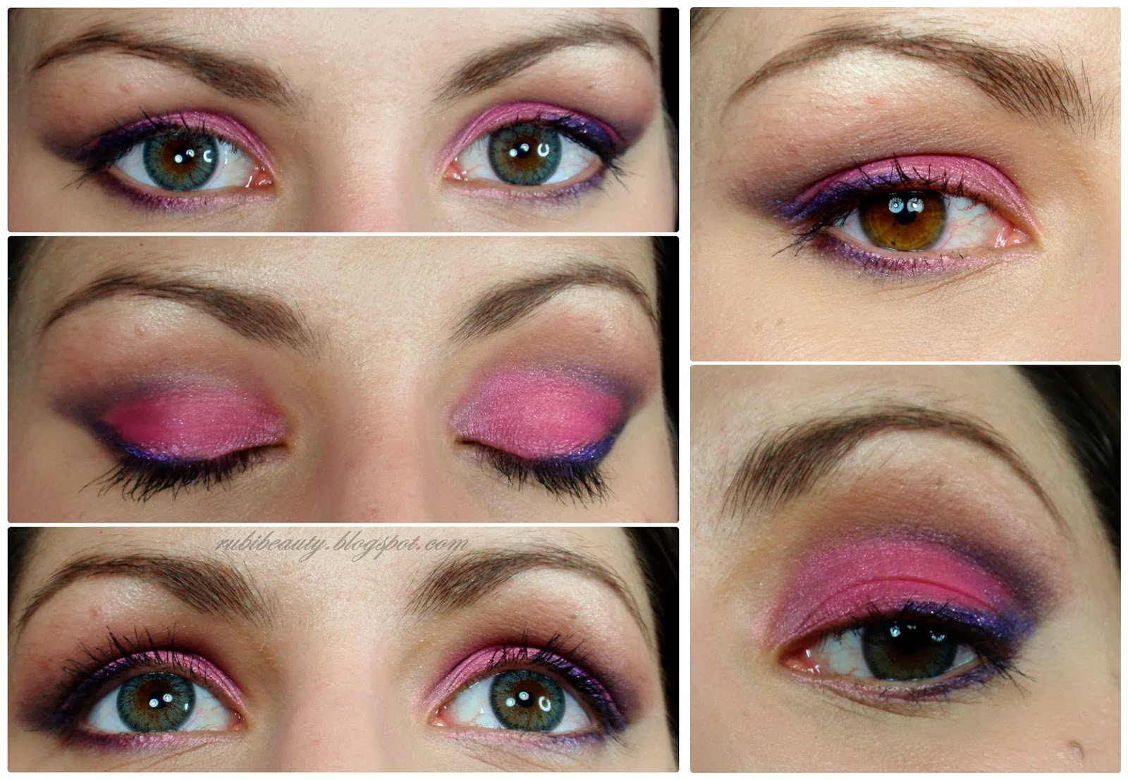 rubibeauty makeup look maquillaje touch of pink ojos lentillas pinky paradise