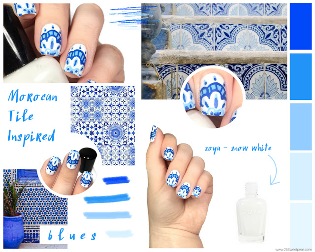 Moroccan Tile Nail Art