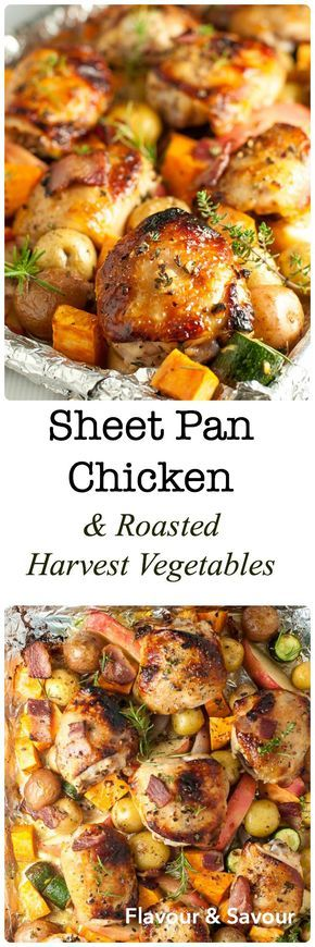 The Perfect Sheet Pan Chicken and Roasted Harvest Vegetables