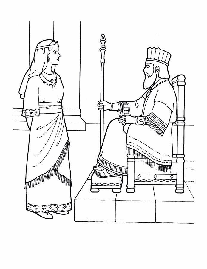 El Renuevo De Jehova: Ester - Imagenes para colorear cristianas ...