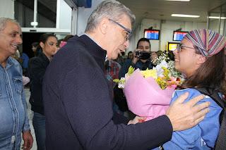 Η χάλκινη ολυμπιονίκης νέων Όλγα Φιασκα στην Μυτιλήνη- Η συγκινητική υποδοχή στο αεροδρόμιο της Μυτιλήνης