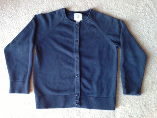 Land's End girls cardigan